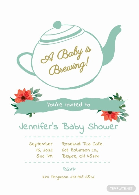 Baby Shower Tea Party Invitation Template.jpe