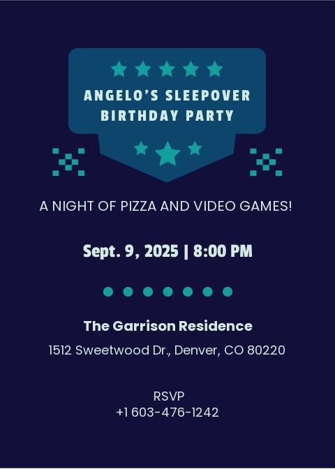 Boys Sleepover Invitation Template.jpe