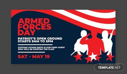 Armed Forces Day LinkedIn Blog Post Template