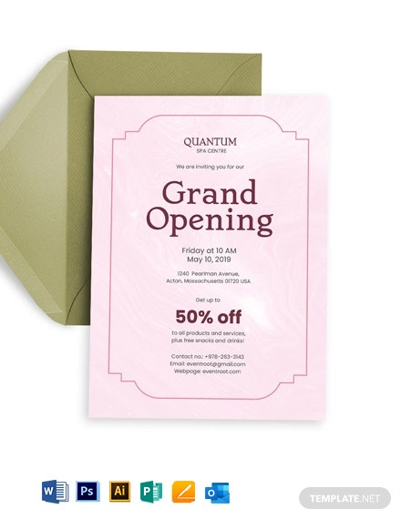 Business Opening Invitation Template
