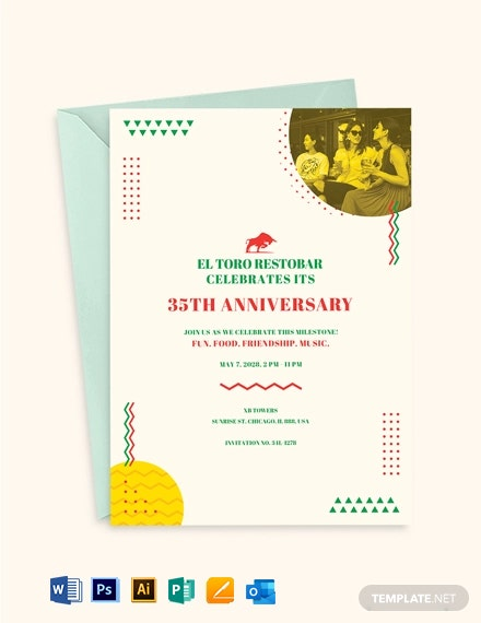 Business Anniversary Invitation Template