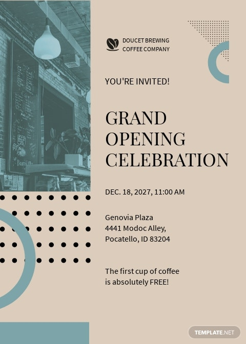 Cafe Opening Invitation Card Template.jpe
