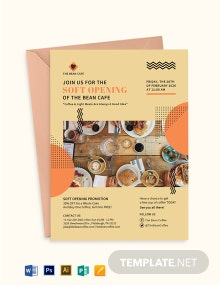 Cafe Soft Opening Invitation Template