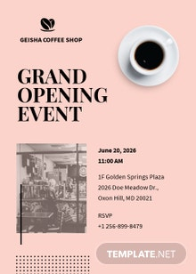 Coffee Shop Opening Invitation Template