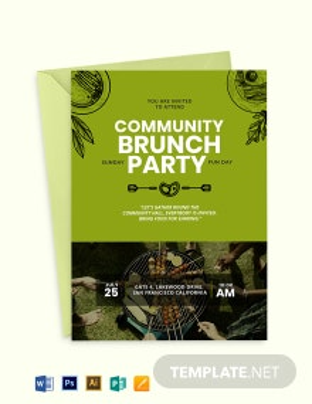 Community Brunch Invitation Template