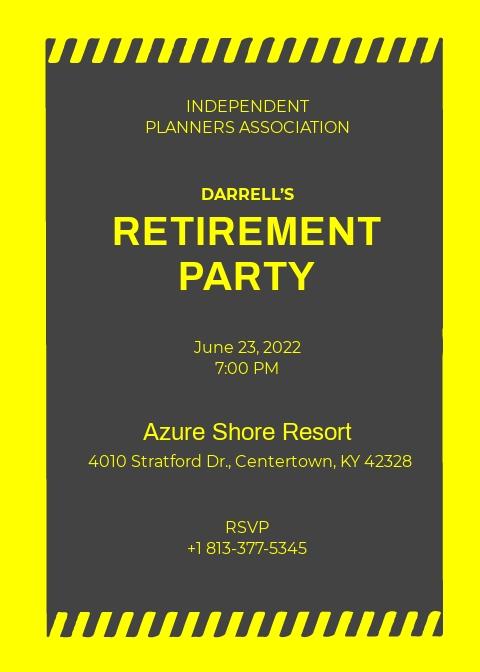 Construction Retirement Invitation Template