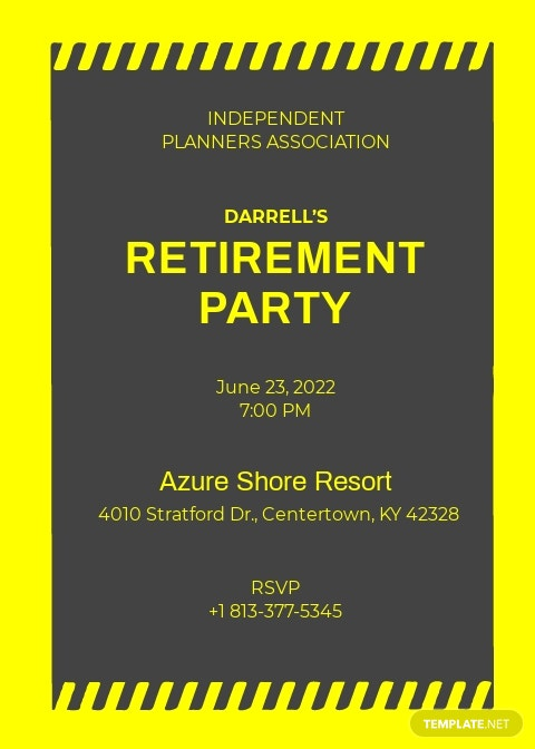 Construction Retirement Invitation Template