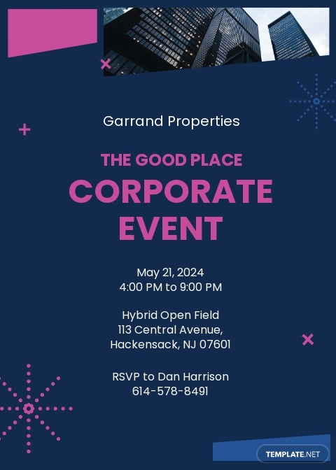 Corporate Business Event Invitation Template