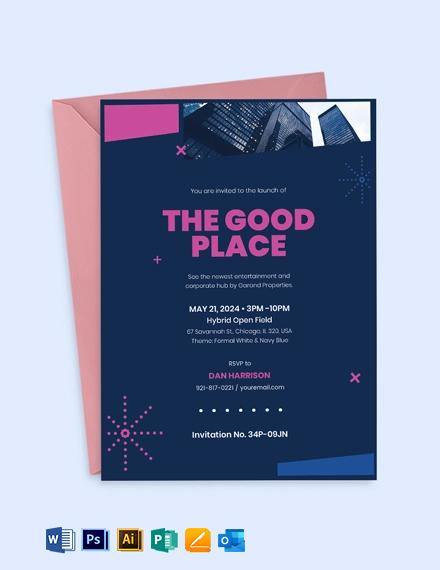 Corporate Business Event Invitation Template
