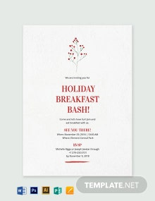 Holiday Breakfast Invitation Template