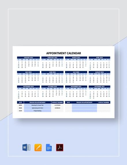 Appointment Calendar