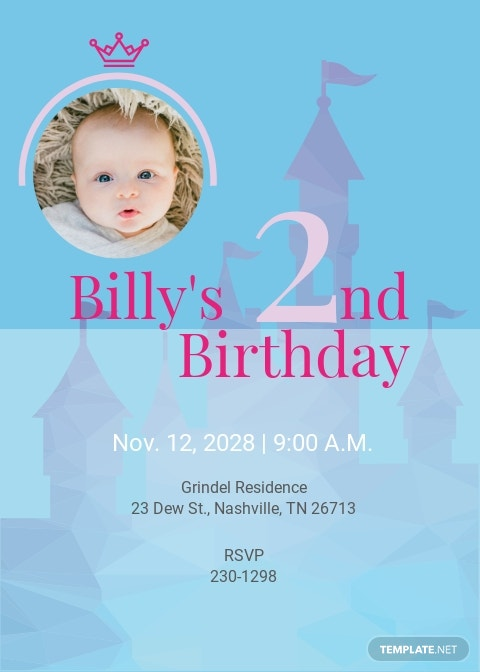Disney Birthday Invitation Template