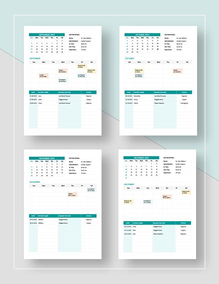 Basic Medical Appointment Calendar
