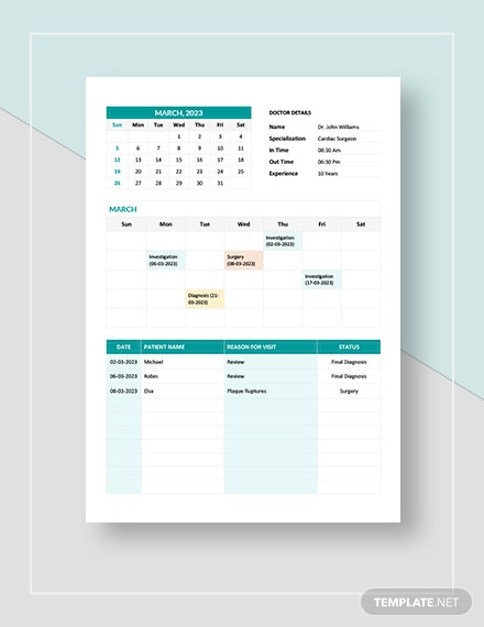 Medical Appointment Calendar Download