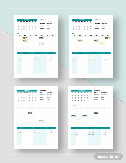 Simple Medical Appointment Calendar