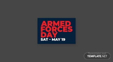 Armed Forces Day Pinterest Board Cover Template