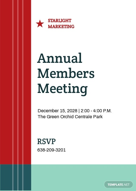 Meeting Invitation Template