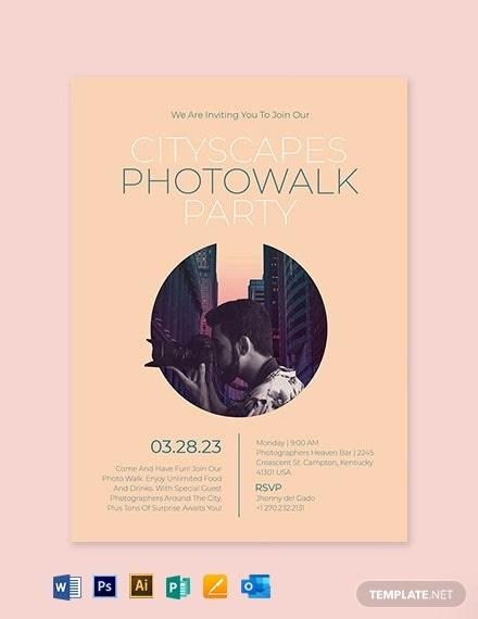 Photo Party Invitation Template
