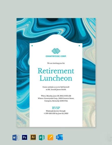 Retirement Luncheon Invitation Template