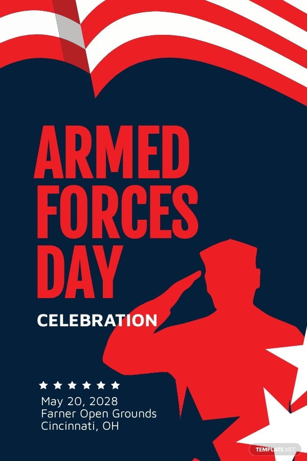 Armed Forces Day Pinterest Pin Template