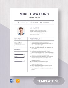Forecast Analyst Resume Template