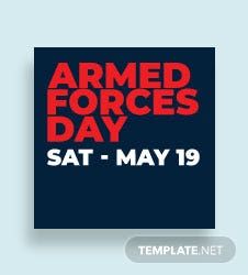 Armed Forces Day Pinterest Profile Photo Template