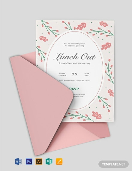 Free Lunch Invitation Template