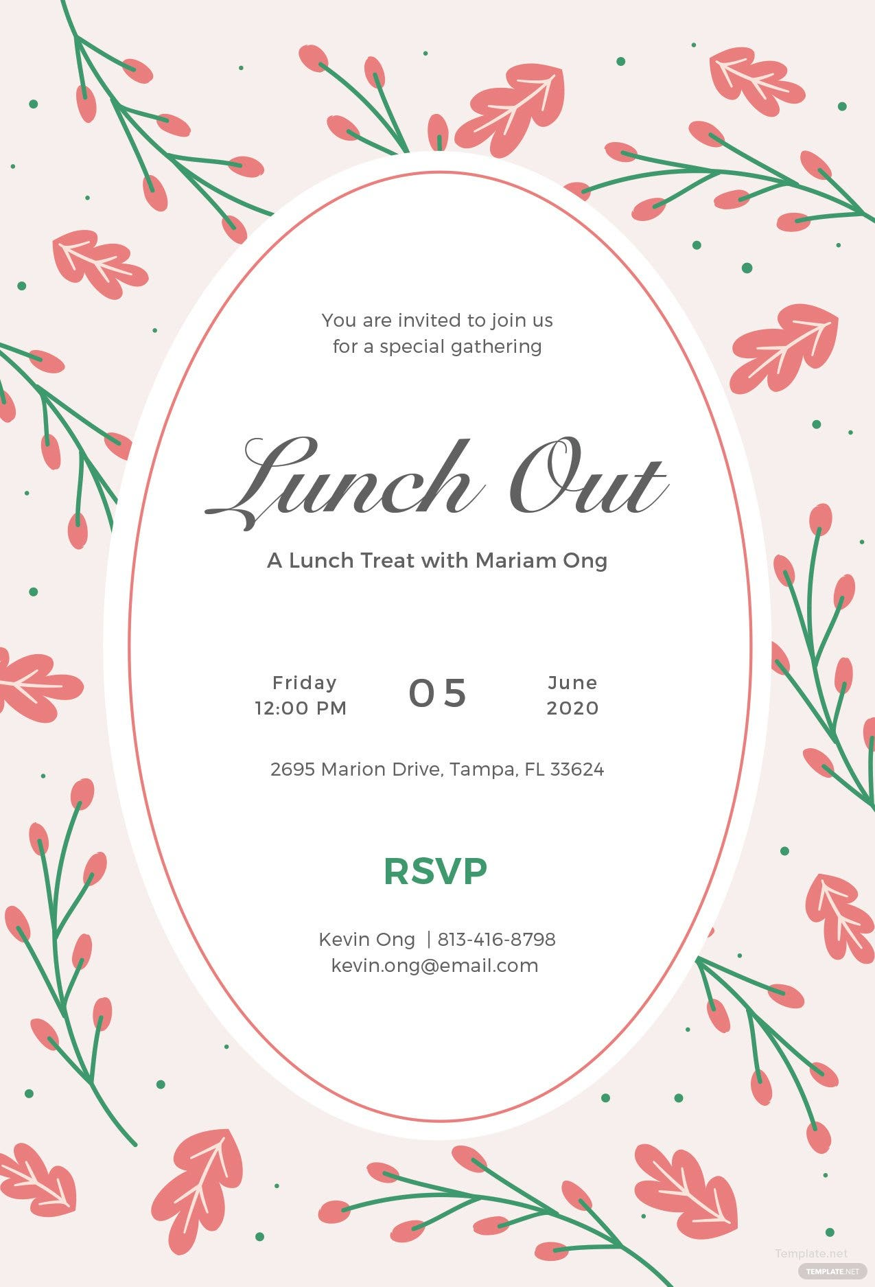 free lunch invitation template in illustrator