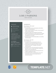 Forms Designer Resume Template