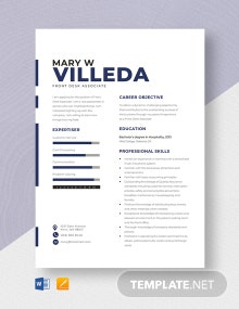 Front Desk Associate Resume Template