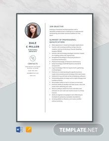 Functional Architect Resume Template