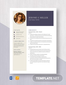 Functional Tester Resume Template