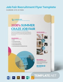 Job Fair Recruitment Flyer Template