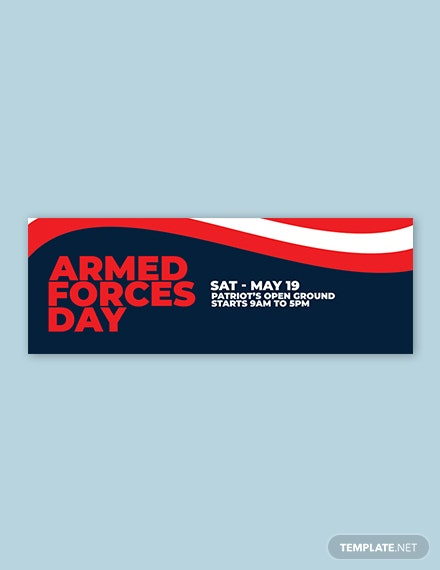 Armed Forces Day Tumblr Banner Template