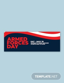 Free Armed Forces Day Tumblr Banner Template