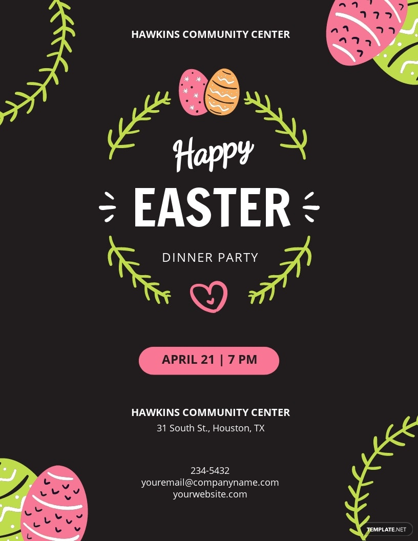 Easter Party Flyer Template.jpe