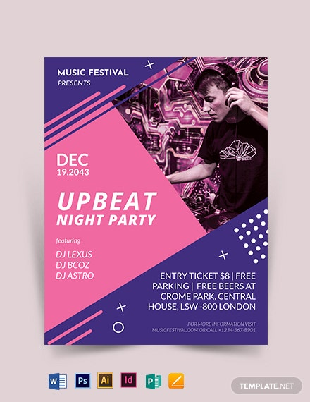 Electro House Party Flyer Template