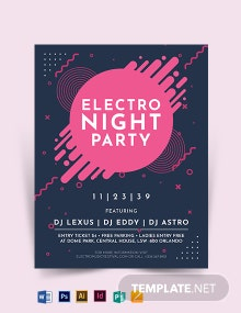 Electro Party Night Flyer Template