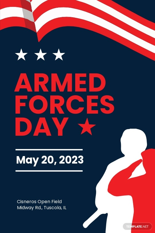 Armed Forces Day Tumblr Post Template