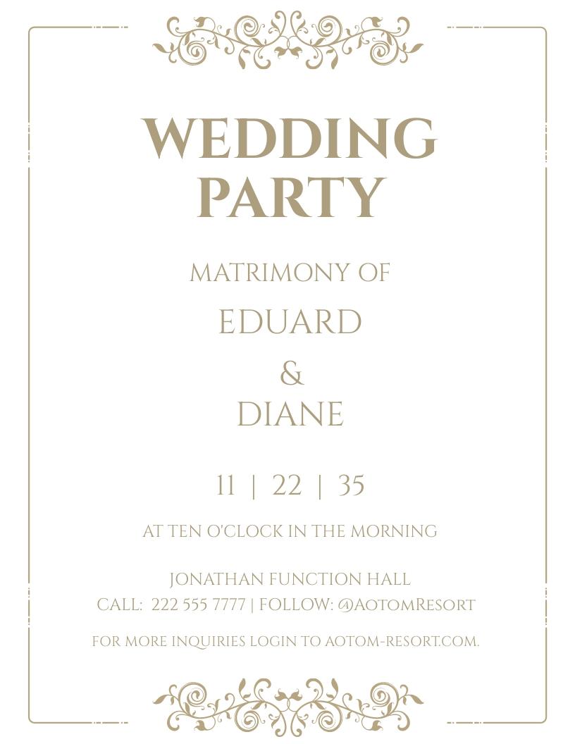 Elegant Fall Wedding Flyer Template