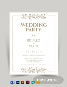 Elegant Fall Wedding Flyer Template