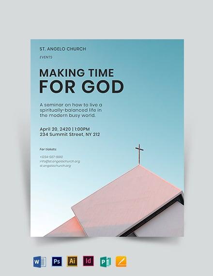 Examining Jesus Church Flyer Template