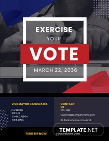 Exercise Your Vote Political Flyer Template