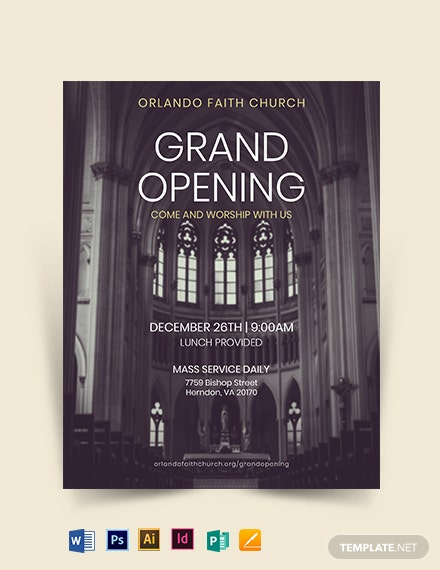 Faith Church Grand Opening Flyer Template