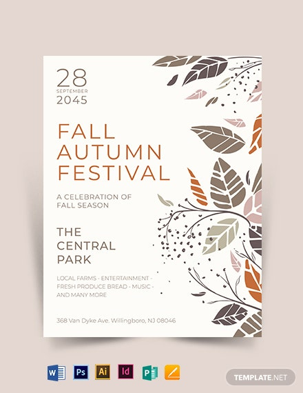 Fall Autumn Festival Flyer Template