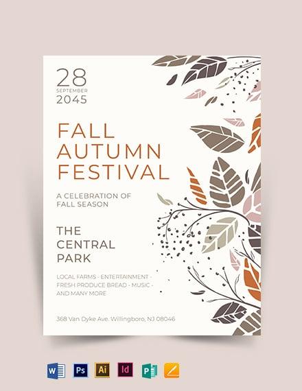 Fall Autumn Festival Flyer Template