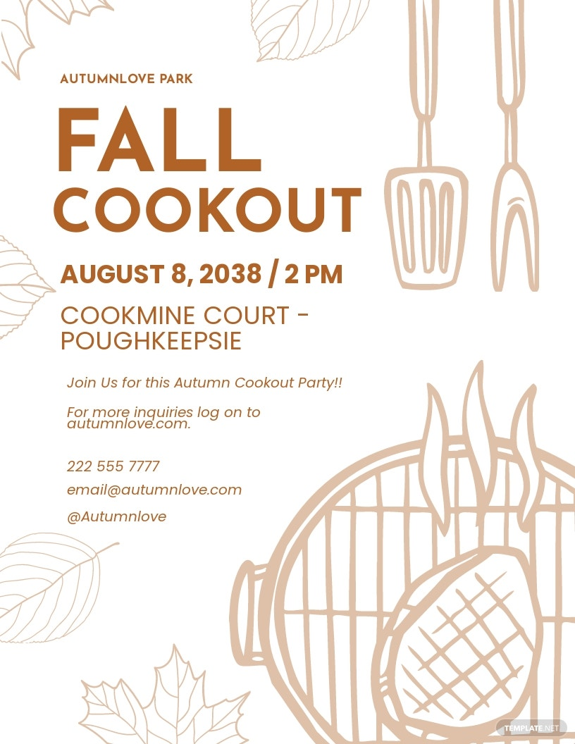 Fall Cookout Flyer Template.jpe