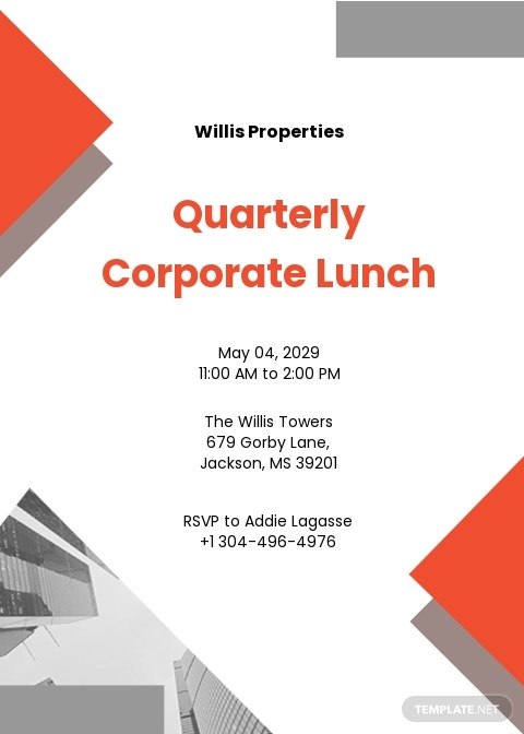Corporate Lunch Invitation Template