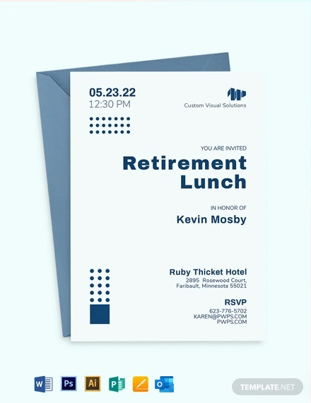 Corporate Retirement Invitation Template