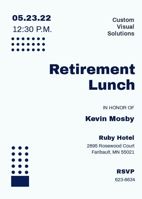 Corporate Retirement Invitation Template
